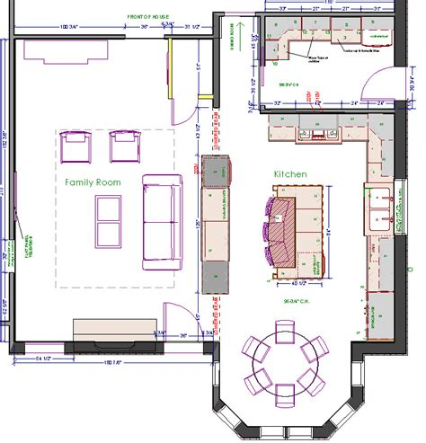 Kitchen Floor Plans With Island by Island Kitchen Floor Plans House Design