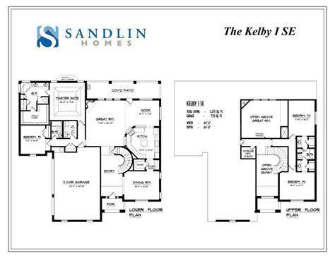 sandlin homes floor plans sandlin floorplans kelby i sandlin homes