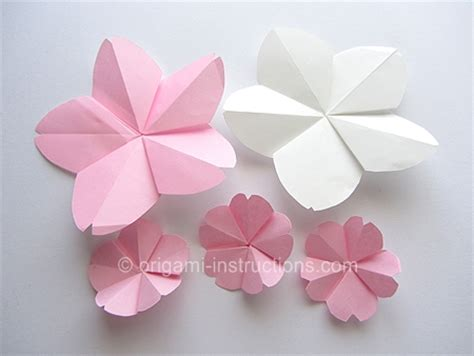 How To Make Cherry Blossoms Out Of Paper - origami june 2013