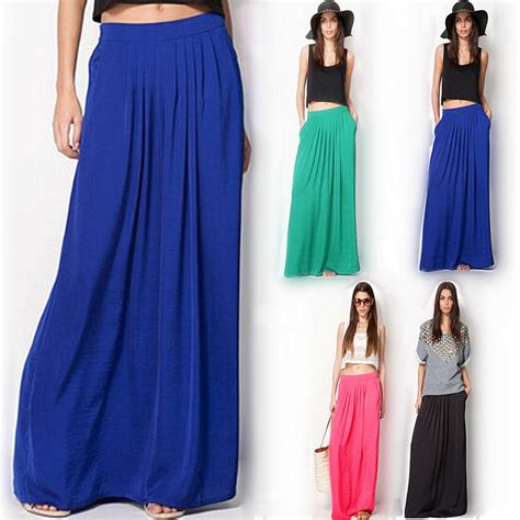 summer style skirts womens high waist pleated skirt