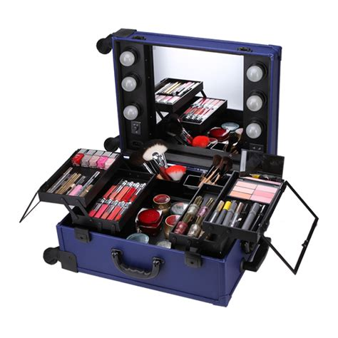 Makeup Cases With Mirrors From Asos by Professional Rolling Makeup Artist Studio Cosmetic