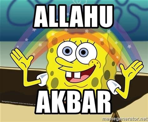 Create Your Own Meme Upload Image - allahu akbar spongebob rainbow meme generator