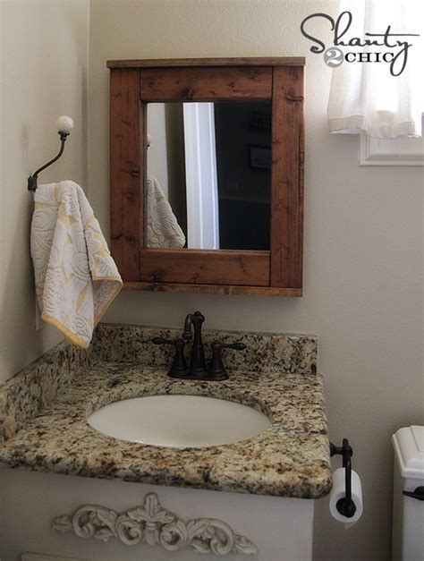 bathroom mirror diy wood mirror diy shanty 2 chic