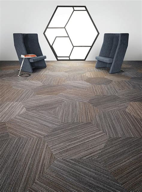 conference room flooring linear shift hexagon 5t056