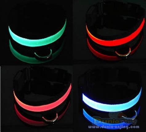 Kalung Anjing Led Flash dunia anjing produk anjing led collar kalung bisa nyala dalam gelap
