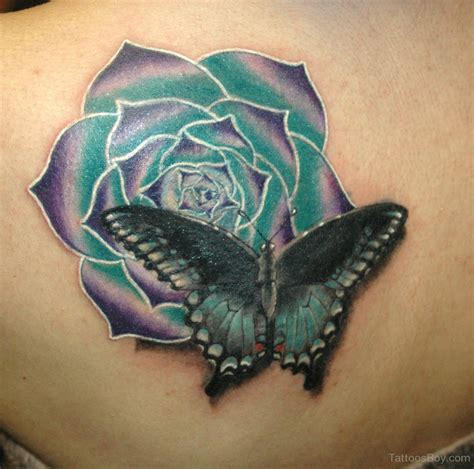 roses with butterflies tattoos butterfly tattoos designs pictures page 13