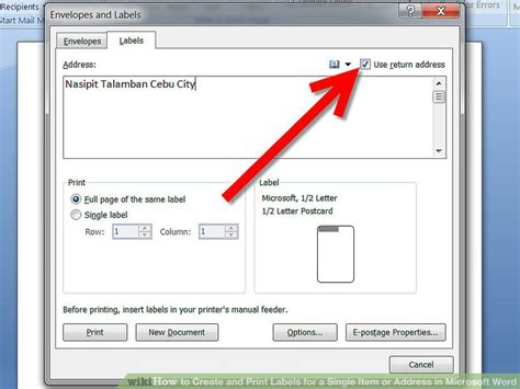 how to make printable address labels in word how to create and print labels for a single item or