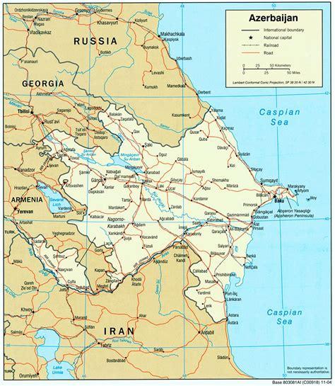 russia map azerbaijan nationmaster maps of azerbaijan 9 in total