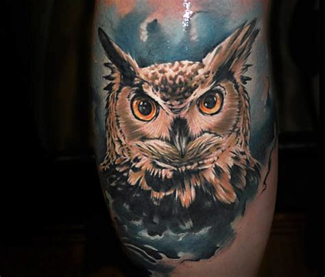 35 awesome owl face tattoos ideas golfian com
