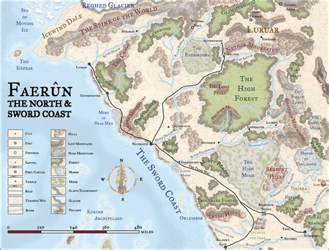 faerun hex map neradia   fantasy world map map
