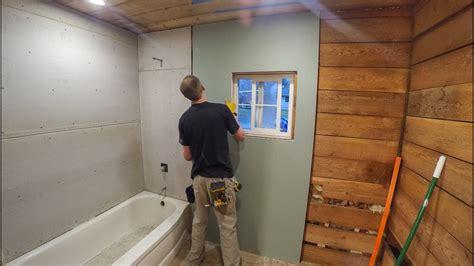 bathroom drywall  backer board youtube