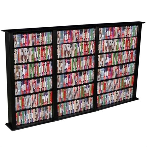 wall dvd shelf venture horizon triple 50 quot cd dvd wall rack media storage