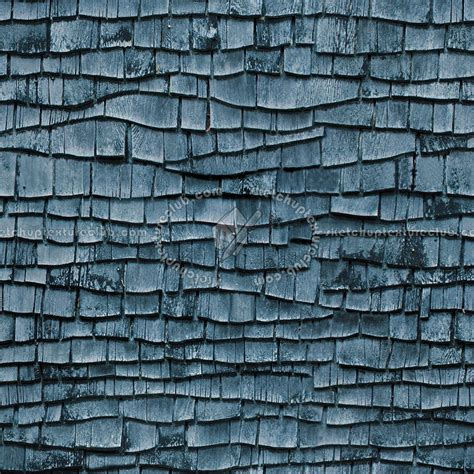 Old wood shingle roof texture seamless 03880
