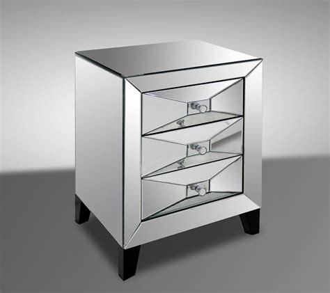 Modern Mirrored Nightstands Warwick Contemporary Mirrored Nightstand