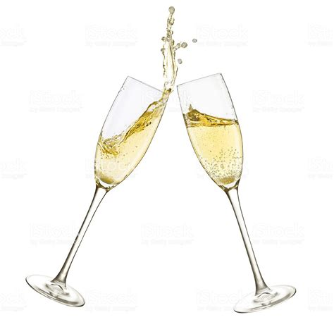 glasses clinking chagne glasses splash stock photo more pictures of