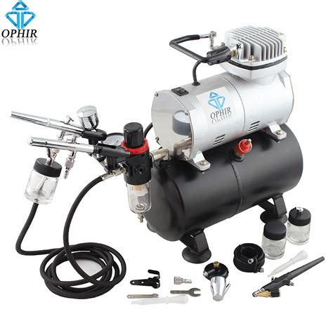 air compressor spray gun for painting ophir 3x dual airbrush with air compressor spray