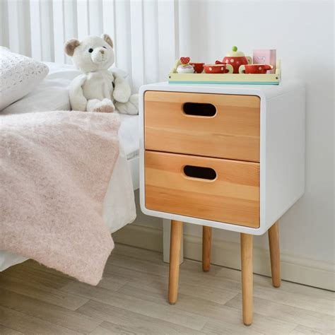 kids bedside table l children s solid wood bedside table with white finish by