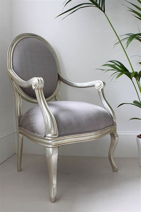 silver armchair lilac cover by out there interiors