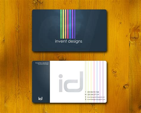 business card designer welcome to invent designs we at your service business