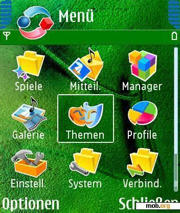 themes download mob org download free green nokia n70 n72 n90 theme for symbian 8