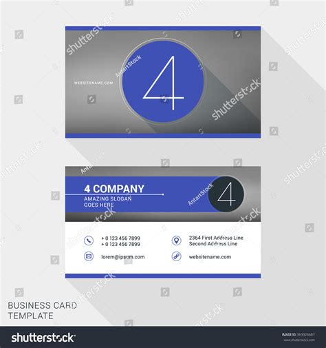 Creative Clean Business Card Name Badge Stock Vector 363926687 Shutterstock Company Name Badge Template