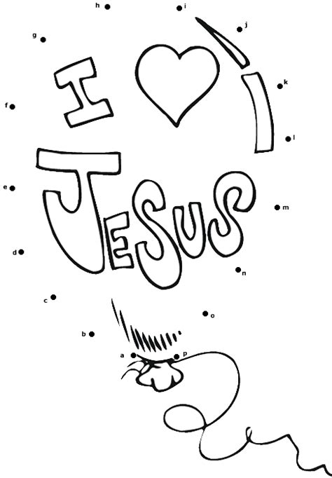 free printable dot to dot bible i love jesus dot to dot