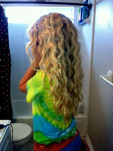 how do they do beach wave perm wet hair two french braids sleep on it this really