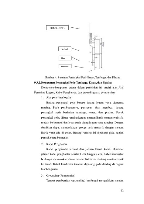 Rod Grounding Tembaga 58 3 Meter Per Batang pkm p perbandingan tembaga emas platina sebagai bahan penghantar pa