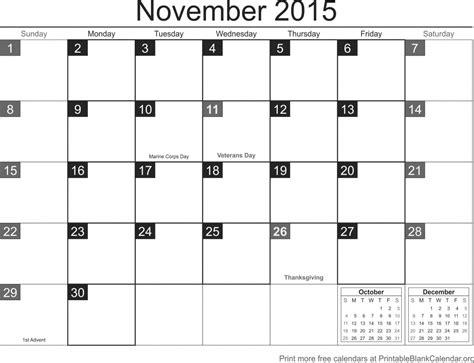 printable planner november 2015 november 2015 printable calendar printable blank