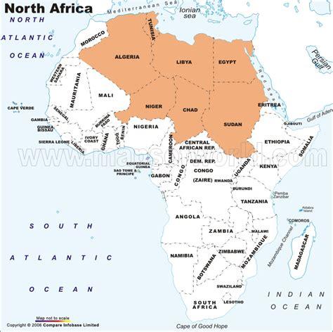 northern africa map northern africa map with capitals