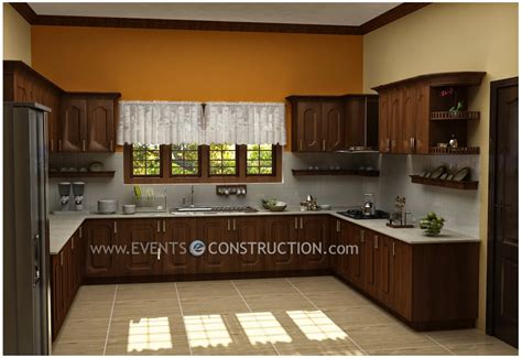 new home designs latest homes modern wooden kitchen evens construction pvt ltd modern kerala kitchen interior