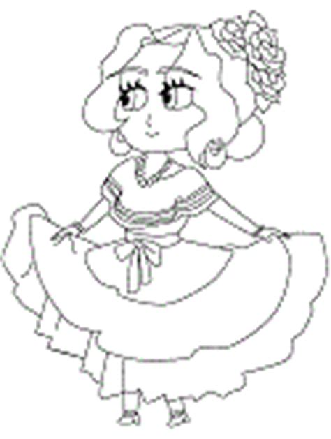 mexican doll coloring page mexico coloring pages