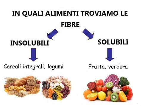 fibra alimentare solubile le fibre cosa sono e in quali alimenti trovarle