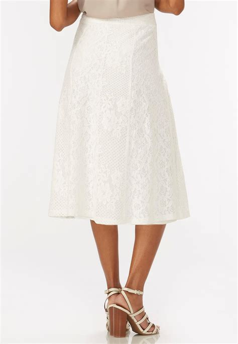 lace a line midi skirt plus below the knee cato fashions