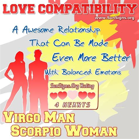 virgo man and scorpio woman love compatibility sun signs