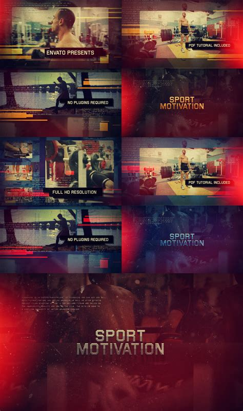 templates after effects sport after effects template sport motivation promo on behance