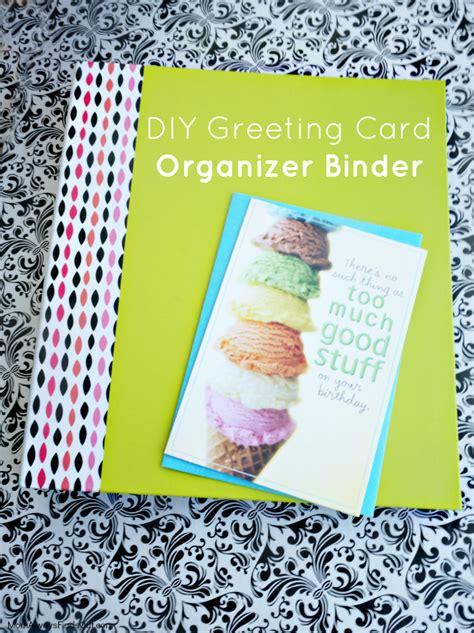 Birthday Card Organizer Diy Greeting Card Organizer Binder