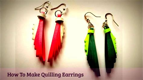 quilling earrings tutorial youtube quilling earrings making leaf design quilling tutorial