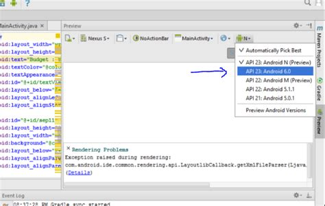 xml layout preview android studio 3 0 xml layout file s preview not showing