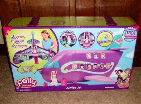 Polly Jumbo polly pocket polly tastic jumbo jet playset brand new