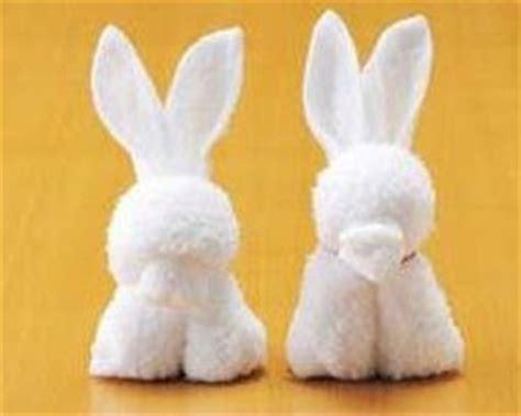 Napkin Origami Animals - expattern napkin rabbit bunny pattern