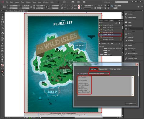 fungsi layout panel adobe indesign accessibility