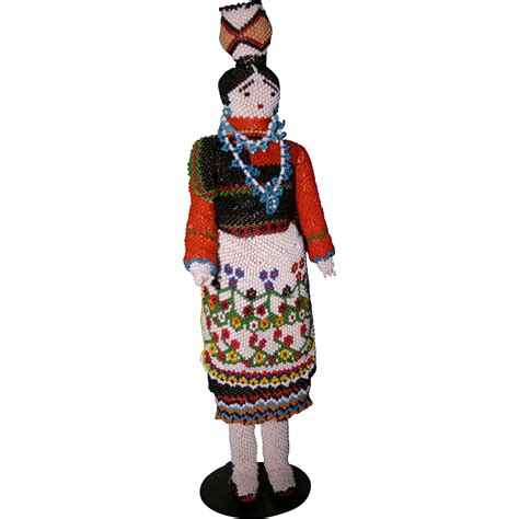 beaded doll vintage 1966 beaded zuni indian doll xlarge 12 quot stunning