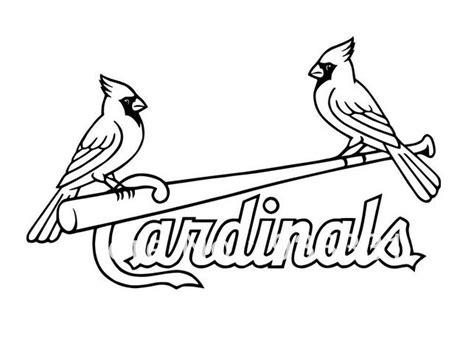 Stl Cardinals And Cardinals On Pinterest St Louis Cardinals Coloring Pages