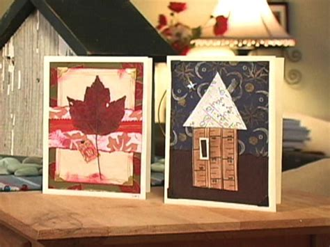 Handmade Collage Ideas - how to make collage greeting card designs hgtv