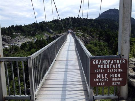 grandfather mountain swinging bridge deaths the blue ridge mountains and the mile high club this