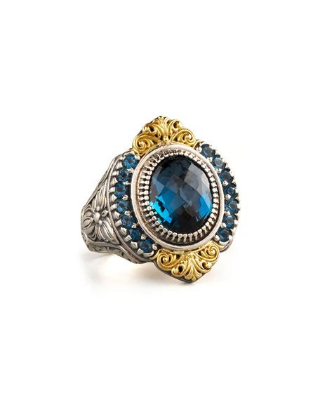 Hello Pave Ring From Neiman by Konstantino Pave Blue Topaz Ring Neiman