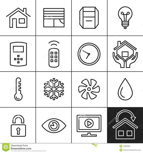 home automation icons stock vector illustration of icon