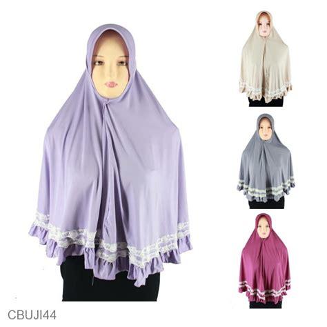 Mukena Polos Renda Jumbo bergo syar i jumbo pet renda mix putih jersey jilbab
