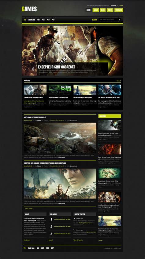 template joomla game game portal joomla template 41873